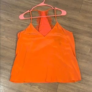 BCBG Maxazaria Orange Tank Top with lacing